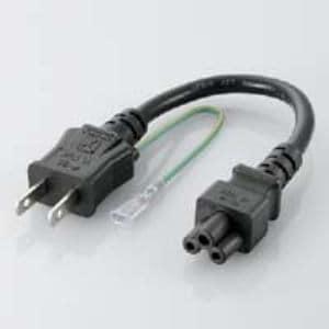エレコム ACアダプタ用ACケーブル(3P用) 0.2m TPCM302