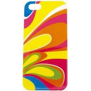 サンクレスト IDP5-BC26 iPhone5専用 バックカバー ポップパーティ 「iDress GIRLS i(アイドレス ガールズアイ)」 カラフルマーブル