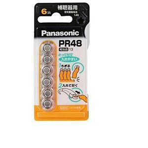 パナソニック 【空気亜鉛電池】(6個入り) PR-48/6P