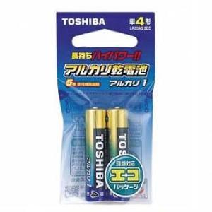 東芝 【単4形】アルカリ乾電池「アルカリ1」(2本入り・エコパッケージ) LR03AG 2EC