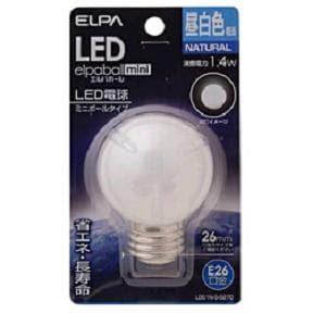 ELPA LDG1N-G-G270 LED電球 「ミニボールG50形」(昼白色・口金E26)