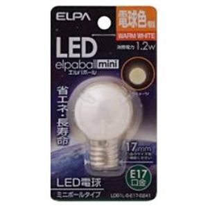 ELPA LDG1L-G-E17-G241 LED電球 「ミニボールG30形」(電球色・口金E17)