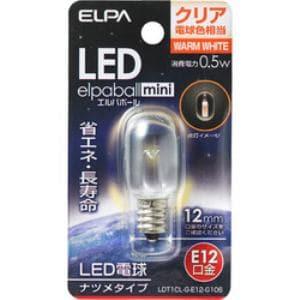 ELPA LDT1CL-G-E12-G106 LEDナツメ球 E12 クリア電球色