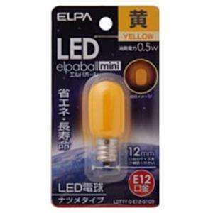 ELPA LDT1Y-G-E12-G103 LED電球 「ナツメ形」(黄色・口金E12)