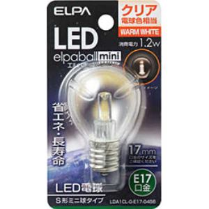 ELPA LDA1CL-G-E17-G456 LED装飾電球 S形ミニ球形 E17 クリア電球色