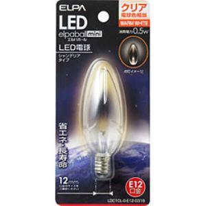 ELPA LDC1CL-G-E12-G316 LED装飾電球 シャンデリア球形 E12 クリア電球色