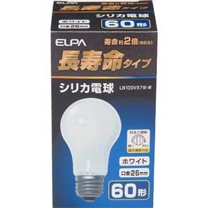 ELPA 長寿命 シリカ電球 LW100V57W-W