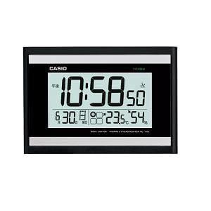 カシオ IDL-100J-1JF 電波時計(壁掛け時計) 生活環境お知らせ(湿度計 / 温度計)タイプ