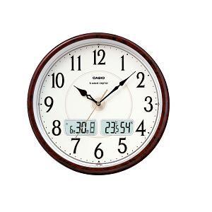 カシオ ITM200J5BJF カシオITM-200J-5BJF電波時計(壁掛け時計)アナログ(湿度計/温度計)タイプ