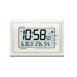 カシオ IDL150NJ7JF カシオIDL-150NJ-7JF電波時計(壁掛け時計)生活環境お知らせ(湿度計/温度計)タイプ