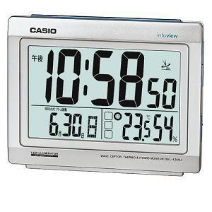カシオ DQL130NJ8JF カシオDQL-130NJ-8JF電波時計(置き時計)生活環境お知らせ(湿度計/温度計)タイプ