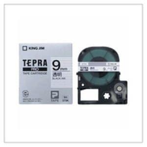 キングジム テプラ 透明ラベルテープ (透明テープ/黒文字/9mm幅) ST9K