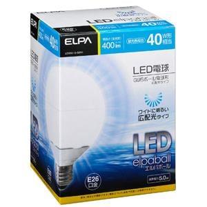 ELPA 広配光LEDボール球 40W形 LDG5D-G-G200