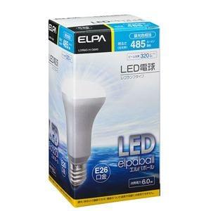 ELPA 40W形 E26口金 LEDレフ球 昼光色 LDR6D-H-G600