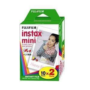 富士フイルム INSTAXMINIWW2 チェキインスタントカラーフィルム instax mini 2パック(10枚入×2)