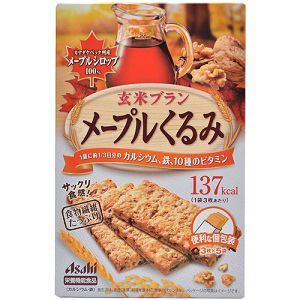 アサヒ バランスアップ 玄米ブラン メープルくるみ 3枚×5袋 【栄養機能食品】