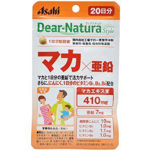 アサヒ ディアナチュラスタイル マカ×亜鉛 40粒 【栄養機能食品】