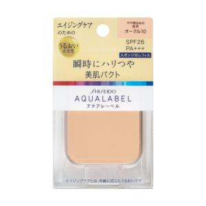 資生堂 アクアレーベル 明るいつや肌パクト ピンクオークル10 (レフィル) (11.5g)