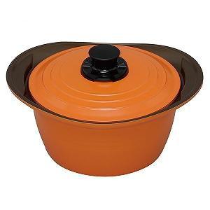 KITCHEN CHEF(キッチンシェフ) IH対応無加水鍋24CM 深型MKS-P24D オレンジ