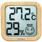 ドリテック O-271NW デジタル温湿度計 ナチュラルウッド
