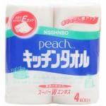 日清紡 ピーチ キッチンタオル 4ロール 【日用消耗品】