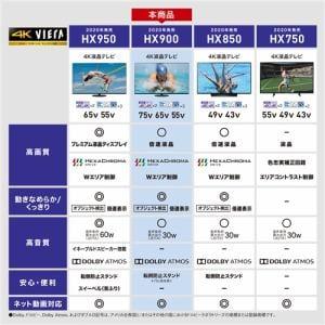 液晶テレビ パナソニック 55インチ 液晶 テレビ TH-55HX900 4K液晶テレビ VIERA 4Kダブルチューナー内蔵 55V型