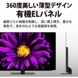 シャープ 4T-C55DQ1 BS/CS 4K内蔵有機ELテレビ AQUOS OLED DQ1シリーズ 55V型