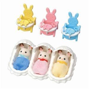 エポック社 シルバニアファミリー ショコラウサギのみつごちゃんお世話セット