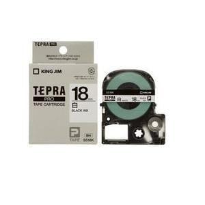 キングジム テプラ 白ラベルテープ (白テープ/黒文字/18mm幅) SS18K