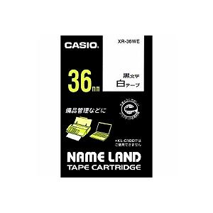 カシオ カシオ ネームランド スタンダードテープ 36MM幅(白テープ/黒文字)