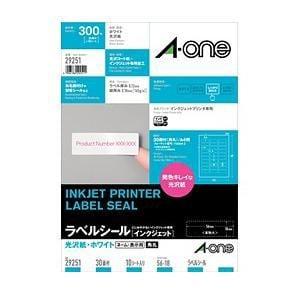 29251 インクジェット用光沢紙ラベル ~ネーム/表示用~(A4サイズ・30面・10シート)