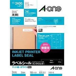エーワン インクジェットプリンタラベル インクジェットラベル A4判24面各種表示用 100シート
