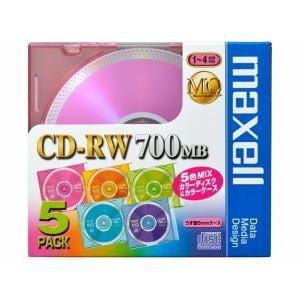 maxell 1?4倍速対応 データ用CD-RWメディア(700MB・5枚) CDRW80MIX1P5S