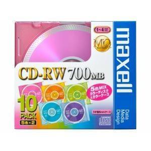 maxell 1?4倍速対応 データ用CD-RWメディア (700MB・10枚) CDRW80MIX1P10S