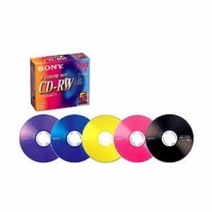ソニー 5CDRW700EX CD-RWメディア CD-RW CD-RW 700MB 5P 5色カラーミックスモデル(ピンク・イエロー・ブルー・バイオレット・ブラック)