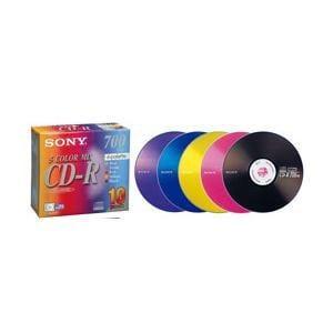 ソニー 10CDQ80EXS データ用700MB 48倍速対応CD-R カラーミックス 10枚パック