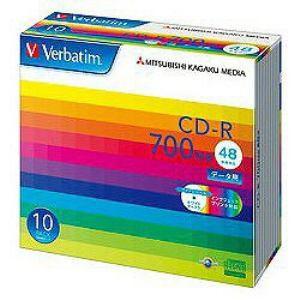 三菱ケミカルメディア SR80SP10V1 48倍速対応 データ用CD-Rメディア インクジェット対応 (700MB・10枚)