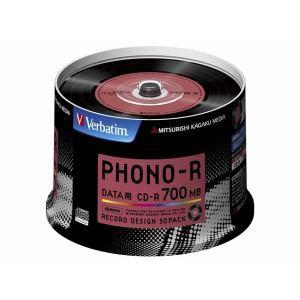 三菱ケミカルメディア SR80PH50V1 データ用CD-R 700MB 50枚48倍速 PHONO-R