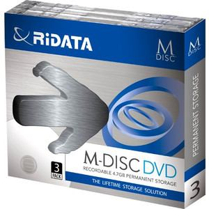 RiDATA M-DVD4.7GB.PW3P M-DISC DVD 4.7GB 4倍速 3枚パック