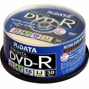 RiDATA データ用DVD-R 1~16倍速 4.7GB 30枚 D-R16X47G.PW30SP B