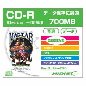 HIDISC HDCR80GP10SC データ用CD-R スリムケース入り10枚パック