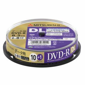 三菱ケミカルメディア DHR85HP11SD5 データ用DVD-RDL(片面2層)インクジェットプリンタ対応ワイドレーベル スピンドル11枚パック