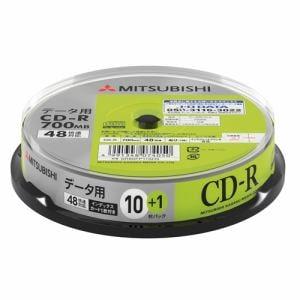 三菱ケミカルメディア SR80FP11SD5 データ用CD-R インクジェットプリンタ対応ワイドレーベル スピンドル11枚パック