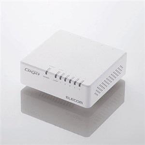 エレコム 1000BASE-T対応 スイッチングハブ 5ポート・ホワイト EHC-G05PA-W-K