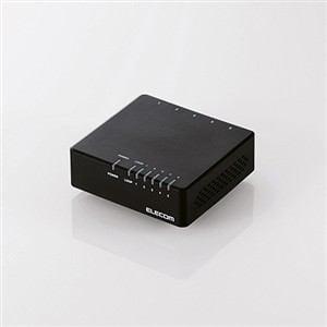エレコム 100BASE-TX対応 スイッチングハブ 5ポート ブラック EHC-F05PA-B