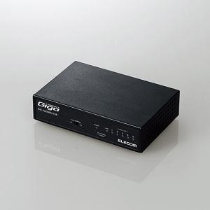 エレコム EHC-G05MN2-HJB 1000BASE-T対応 スイッチングハブ 5ポート メタル(ブラック)