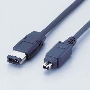 エレコム IEEE1394ケーブル(4ピン-6ピン)1.0m IE461BK