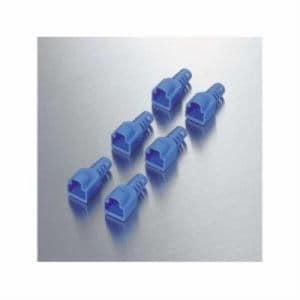 エレコム LD-EBBU6 コネクタ保護カバー 6個入 ブルー