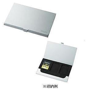 ナカバヤシ MCC-801SL SDメモリカードケース シルバー