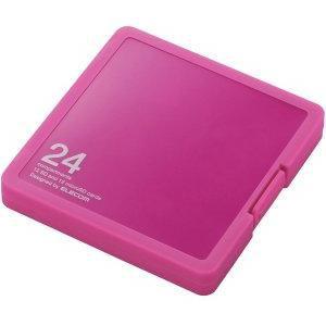 エレコム CMC-SDCPP24PN SD/microSDカードケース プラスチックタイプ ( SD:12枚 / microSD:12枚収納可能 ) ピンク